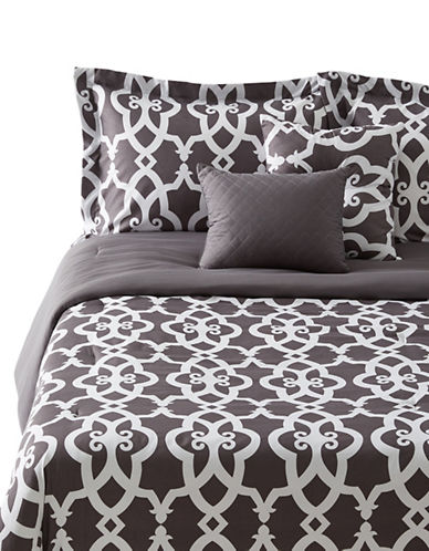 Marseilles Belmont Five-Piece Double and Queen Bedding Set-GREY-Twin