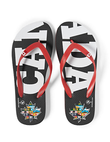Canadian Paralympic Team Collection Women s Canada Flip Flop-BLACK-Medium