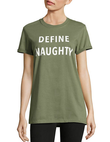 Adolescent Clothing Define Naughty Tee-GREEN-Large 88749301_GREEN_Large
