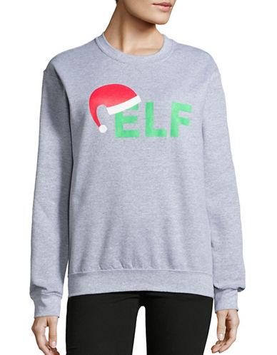 Adolescent Clothing Dropped Shoulder ELF Sweatshirt-GREY-Small 88749303_GREY_Small