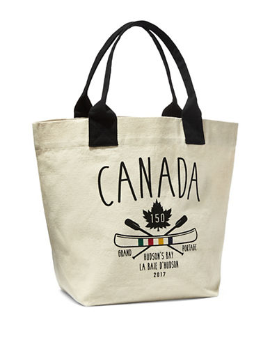 Grand Portage Canvas Tote Bag-NATURAL-One Size