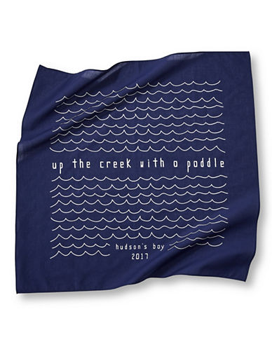 Grand Portage Up The Creek Printed Bandana-BLUE-One Size