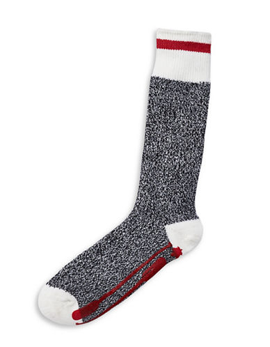 Grand Portage Wool-Blend Camp Socks - Men-GREY-L/XL