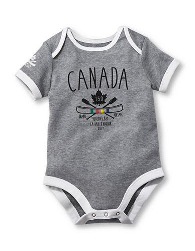 Grand Portage Canada 150 Printed Bodysuit-GREY-18-24 Months