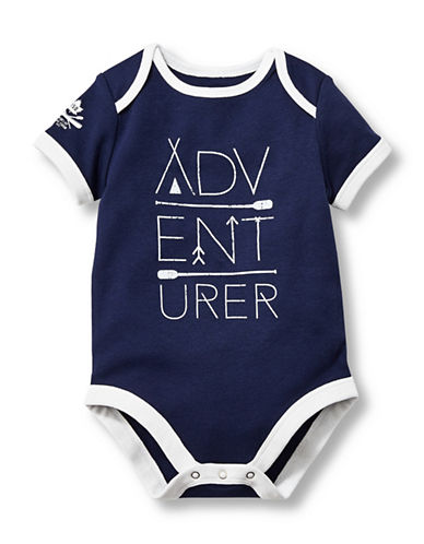 Grand Portage Adventurer Short Sleeve Bodysuit-BLUE-0-6 Months