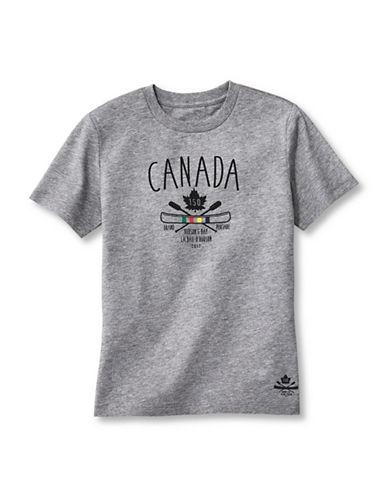 Grand Portage Kids Canada 150 Crew Neck T-Shirt-GREY-3-4