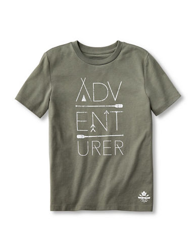 Grand Portage Kids Adventurer Printed T-Shirt-GREEN-3-4