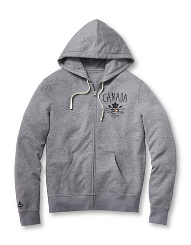 Grand Portage Womens Hooded Zip Sweatshirt-GREY-Medium