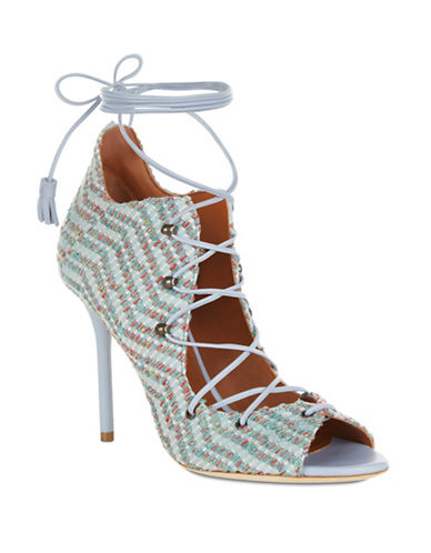 Malone Souliers Savannah Jacquard Sandals-GREEN-EUR 39/US 9