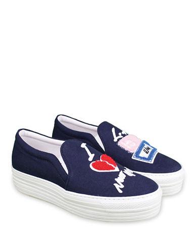 Joshua Sanders 10018 The Way White Sneakers-BLUE-EUR 36/US 6