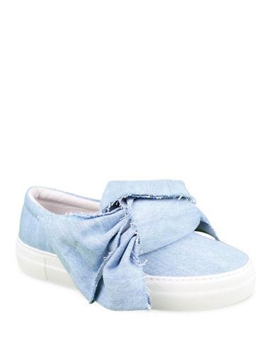 Joshua Sanders Azure Denim Bow Sneakers-BLUE-EUR 38/US 8