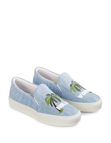 Joshua Sanders Hollywood Sign Sneakers-BLUE-EUR 40/US 10