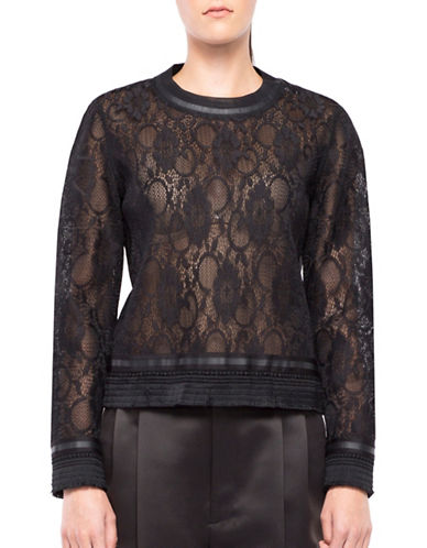 Co + Co Donatta Laced Top-BLACK-Large