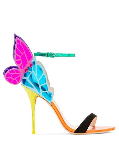 Sophia Webster Chiara Butterfly Wing Mirror Calf Leather Sandals-MULTI-EUR 37.5/US 7.5