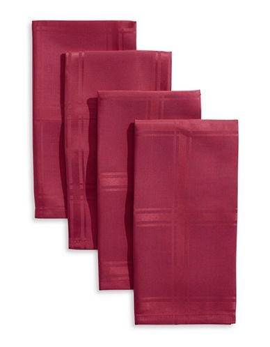 Distinctly Home Bennet Plaid Four-Piece Napkin Set-RED-One Size