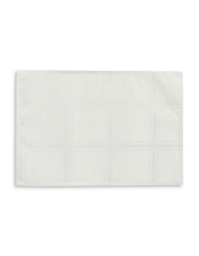Distinctly Home Set of Four Spill-Proof Placements-IVORY-One Size