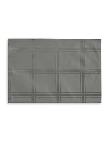 Distinctly Home Set of Four Spill-Proof Placements-GREY-One Size