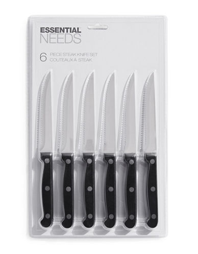 Essential Needs Six-Pack Knife Set-BLACK-One Size
