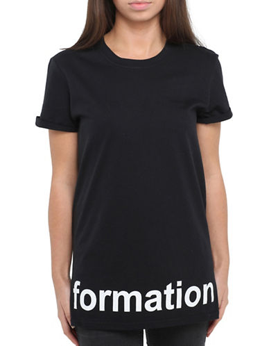 Adolescent Clothing Formation T-Shirt-BLACK-Small