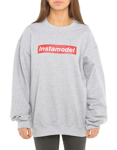 Adolescent Clothing Instamodel Crew Neck Sweatshirt-GREY-Small 88889270_GREY_Small