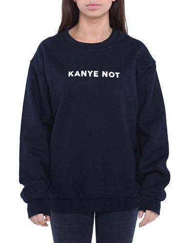 Adolescent Clothing Kanye Not Crew Neck Sweatshirt-BLACK-Large 88889276_BLACK_Large