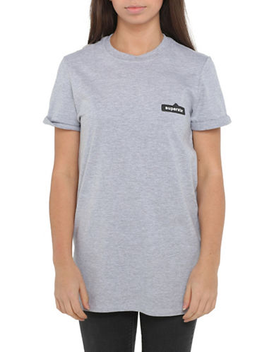 Adolescent Clothing Superstar T-Shirt-GREY-Small
