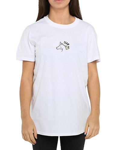 Adolescent Clothing Unicorn Team T-Shirt-WHITE-Large 88890858_WHITE_Large