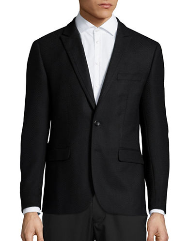 Haight And Ashbury Roxbury Classic-Fit Wool-Cashmere Blazer-BLACK-40 Regular