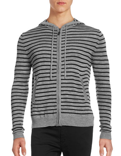 Haight And Ashbury Wool-Blend Zip-Up Hoodie-GREY-Large 88911369_GREY_Large