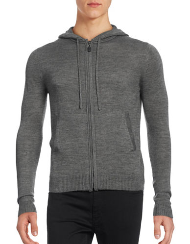 Haight And Ashbury Wool-Blend Zip-Up Hoodie-CHARCOAL-Small 88911372_CHARCOAL_Small