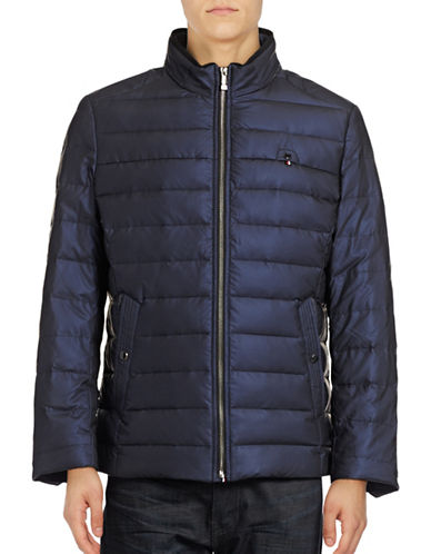 Haight And Ashbury Quilted Down Jacket-BLUE-XLarge 88911421_BLUE_XLarge