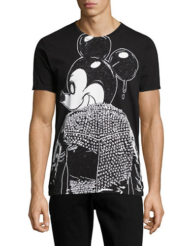 Dom Rebel Mick Studded Jacket T-Shirt-BLACK-Medium
