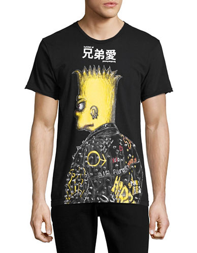 Dom Rebel Bart Punk T-Shirt-BLACK-Medium
