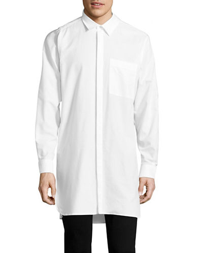 Msgm Long Body Sport Shirt-WHITE-EU 39/US 15.5