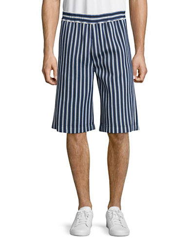 Msgm Striped Short-BLUE-EU 46/Small