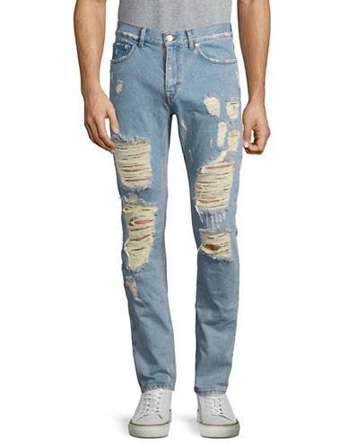 Msgm Distressed Jeans-BLUE-EU 46/Small