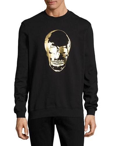 Markus Lupfer Foil Skull Judd Sweatshirt-BLACK-Medium 88918908_BLACK_Medium