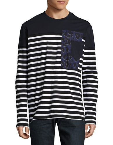 Markus Lupfer Leopard Patchwork Pocket T-Shirt-BLACK-Medium