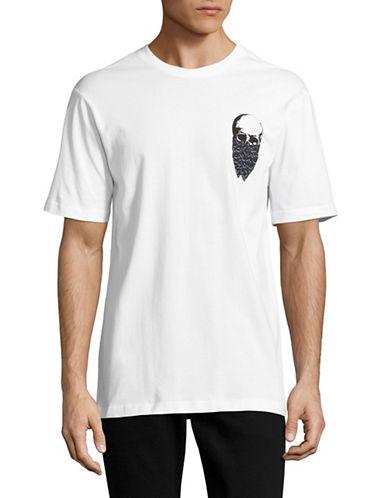 Markus Lupfer Leopard Skull Bandit Jake T-Shirt-WHITE-Small