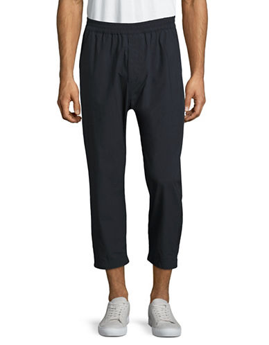 Markus Lupfer Slim Cropped Pants-BLUE-Medium