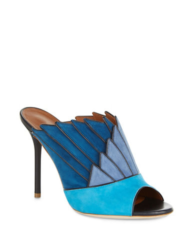Malone Souliers Donna Leather Mules-BLUE-EUR 39/US 9