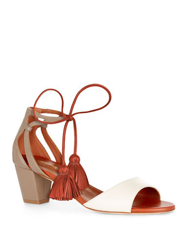 Malone Souliers Gladys Tassel Leather Sandals-WHITE-EUR 36.5/US 6.5