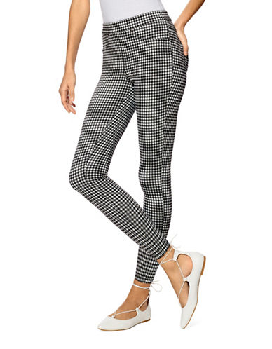Hue Gingham Denim Skimmer Leggings-BLACK-Medium 88949350_BLACK_Medium