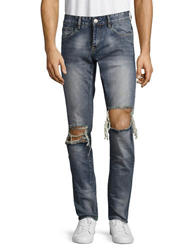 Embellish Vinny Distressed Jeans-BLUE-28