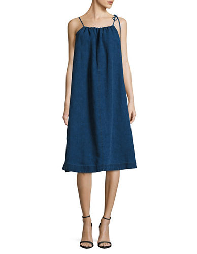 Sea Ny Denim Tent Dress-BLUE-2