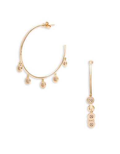 Melanie Auld Pave Disc Hoops-GOLD-One Size