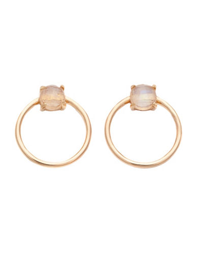 Melanie Auld Labradorite Mini Hoops-GOLD-One Size