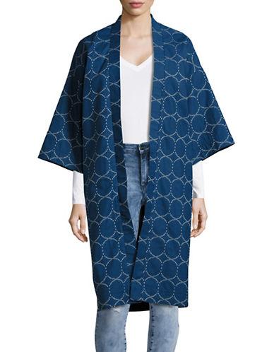 Horses Atelier Circle-Dot Kimono-BLUE-Medium/Large