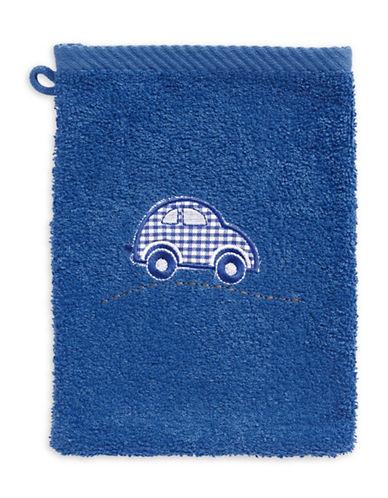 Bob Der Bar Gingham Car Cotton Towel Mitt-BLUE-Finger Tip Towel