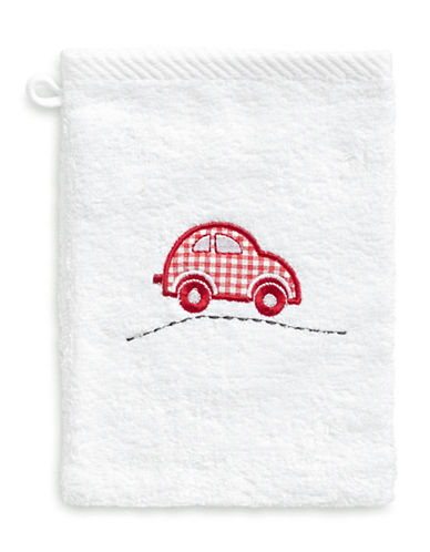 Bob Der Bar Gingham Car Cotton Towel Mitt-WHITE-Finger Tip Towel